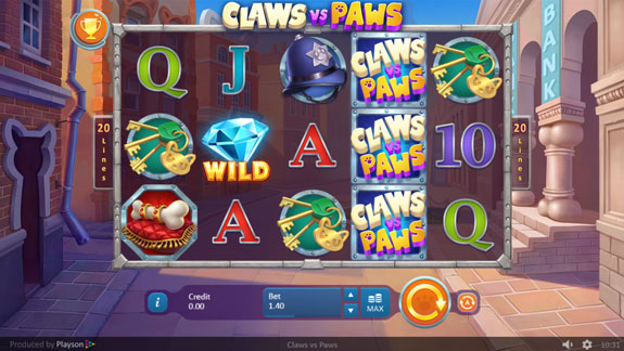 Claws vs Paws slot by Playson