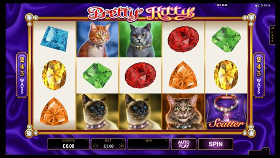 Pretty Kitty slot by Microgaming