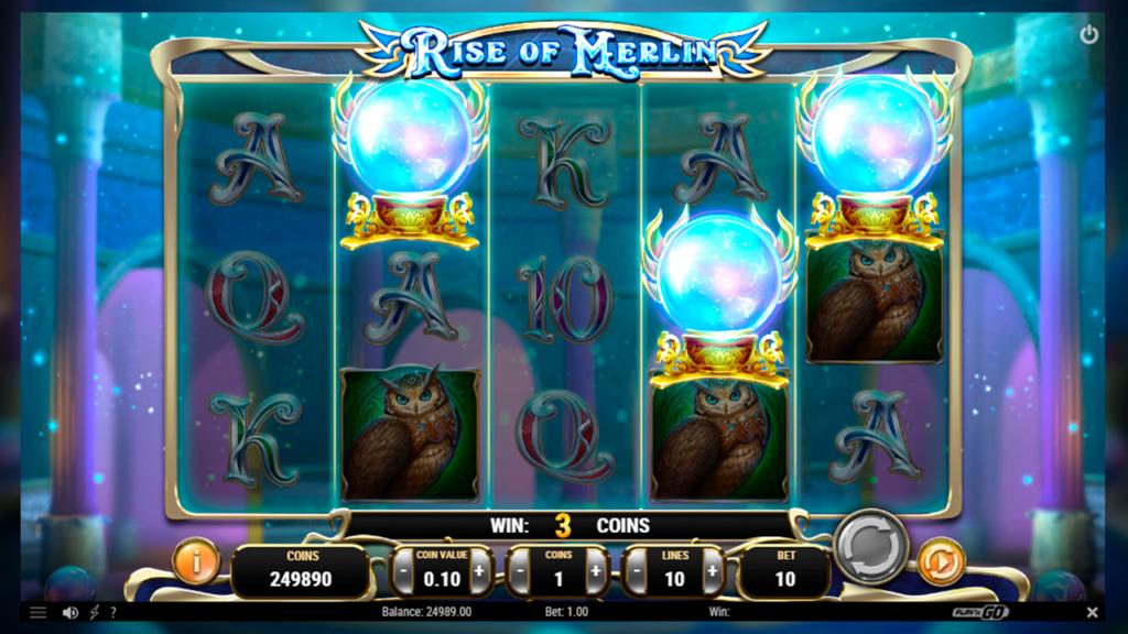 Rise of Merlin slots bonus