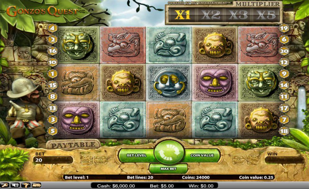 Gonzo's Quest slots bonus