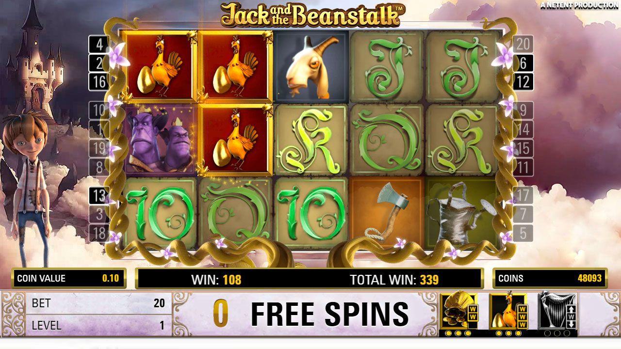 Jack and the Beanstalk slots bonus