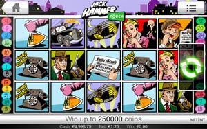 Jack Hammer Slot game features