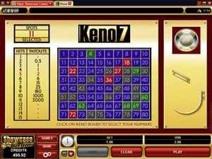 Keno Table Game from Microgaming