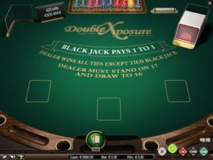 Blackjack Double Exposure Table Game by Netent