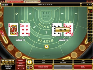 Baccrat Table Game from Microgaming