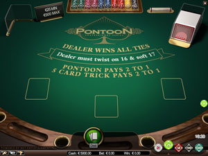 Blackjack Pontoon Table Game by Netent