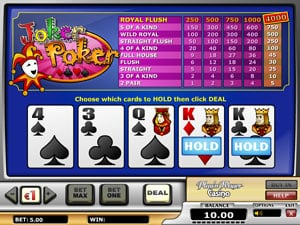 Joker Poker Pro Video Poker from Play N Go