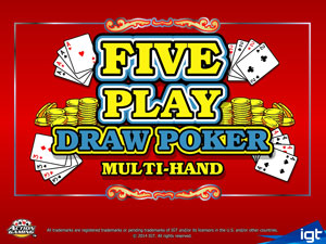 Five Play Draw Poker from IGT