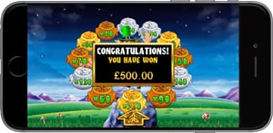 Rainbow Riches mobile slot version