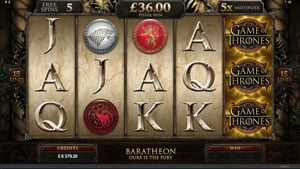 Free Spins in Game of Thrones Slot