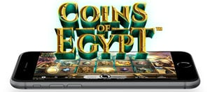 Pelaa Coins of Egypt Touch Mobile