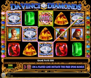 Da Vinci Diamonds Free Spins