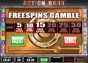 Free Spins Bonus in Action Bank Slot