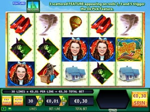 The orginal Wizard of Oz Slot Machine