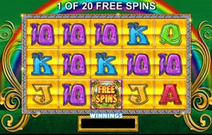 Rainbow Rices Pick N Mix Free Spins feature