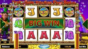 Big Win at Rainbow Riches Free Spins