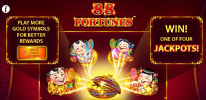 4 different jackpots in 88 Fortunes