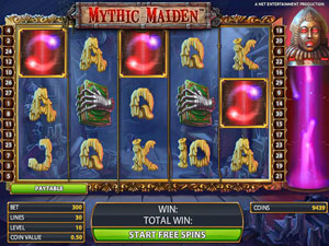 Mythic Maiden Free Spins