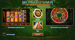 how to play Montezuma slot