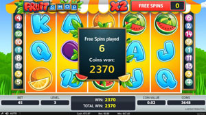 Fruit Shop Free Spins round