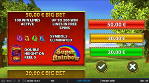 Rainbow Riches Drops of Gold Big Bet Bonus Function