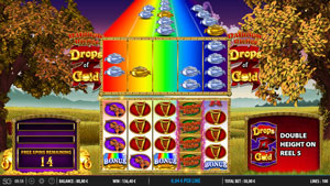 Rainbow Riches Drops of Gold Free Spins Bonus