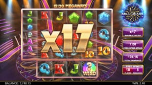 Free Spins bonus feature in Who wants to be a millionaire slot