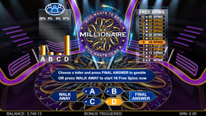 Who wants to be a millionaire slot game hot seat free spins gamble
