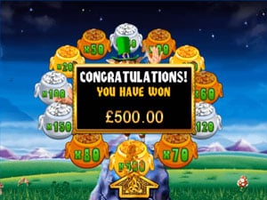 How to find the pot of gold on Rainbow Riches?