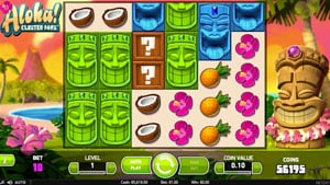 How to play Aloha Cluster Pays Slot by Netent?