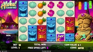 Free Spins Bonus in Aloha Cluster Pays