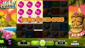 Sticky Win Re-Spins in Aloha Slot