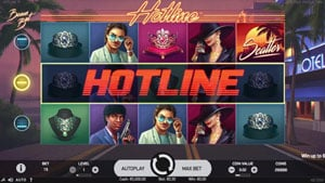 Hotline video slot by Netent