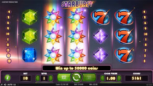 Starburst Slot Re-Spin bonus feature with big wins