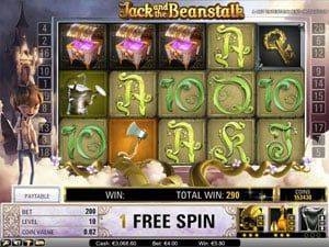 Free Spins Feature in Jack and the Beanstalk