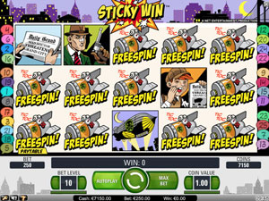Stick win feature in Jack Hammer Slot