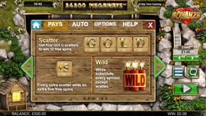 Get GOLD and trigger Free Spins in Slot Bonanza