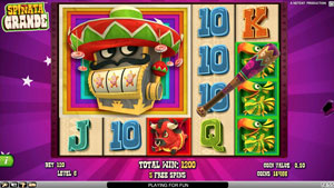 Mini Slot Bonus game in Spinata Grande Slot