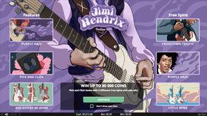 How do you play Jimi Hendrix Online Slot?