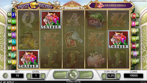 Piggy Riches Free Spins by collecting 3 scatters