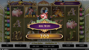Piggy Riches Bonus Feature with wilds