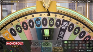 Dream Catcher wheel in Monopoly Live