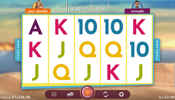 why play love island slot machine