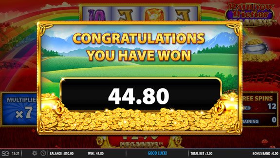 Play Rainbow Riches Megaways for real money