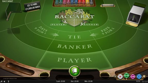 Play Netent's version of Baccarat