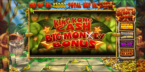 King Kong Cash big monkey bonus
