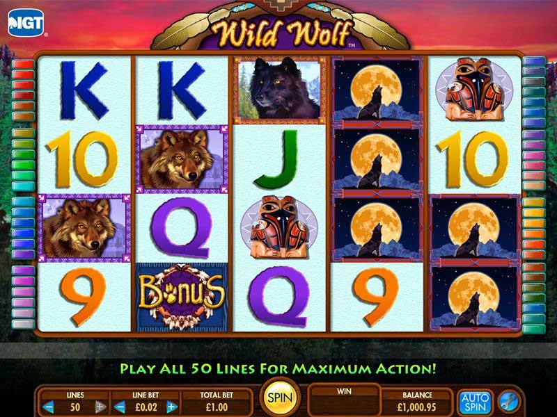 Wild Wolf casino slot game