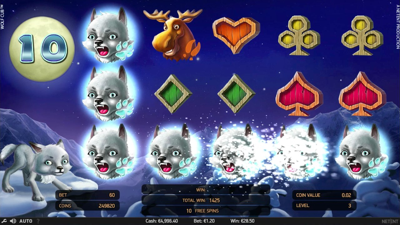 Wolf cub slot huge win