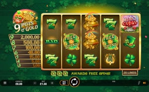 9 pots of gold by Microgaming
